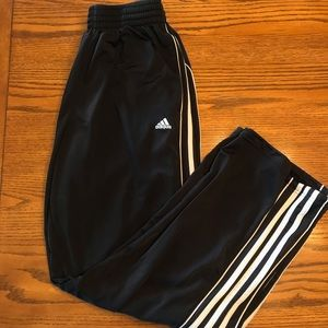Adidas back and white sweatpants